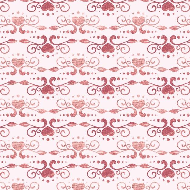ローズゴールドのアールデコ調のパターン 無料ベクター