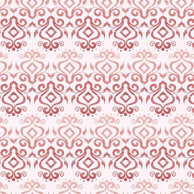 Modello art deco in oro rosa Vettore gratuito