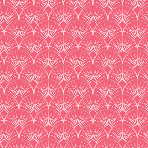 Rose gold art deco pattern Premium Vector