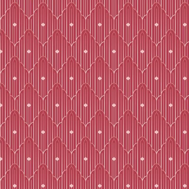 Rose gold art deco pattern Premium Vector