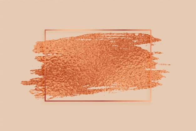 Free Vector Rose Gold Or Copper Color Foil Texture Frame Background