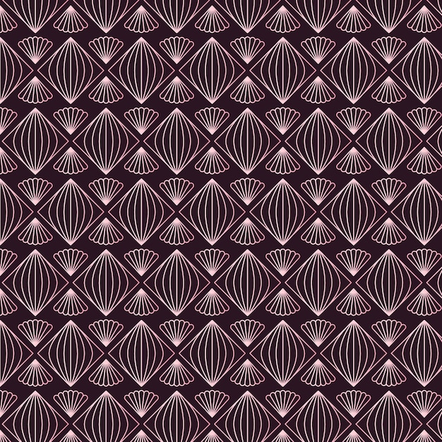 Rose gold decorative pattern Free Vector