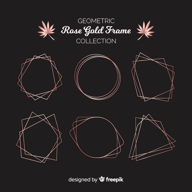 Rose gold frame collection Free Vector