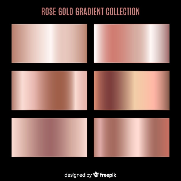 Rose gold gradient collection Premium Vector