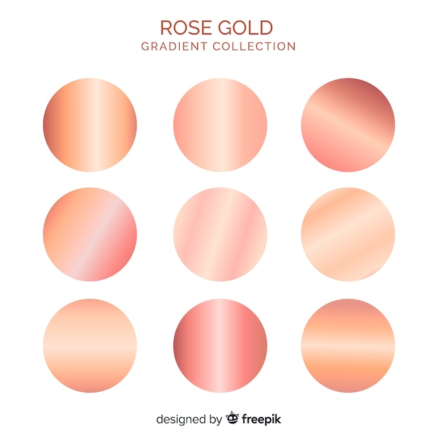 Rose gold gradient collection Free Vector
