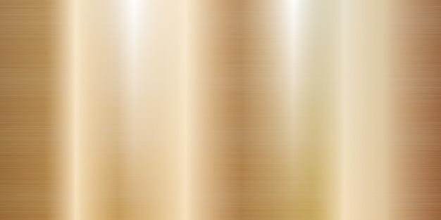 Rose gold metal texture large banner realistic illustration Premium Vector