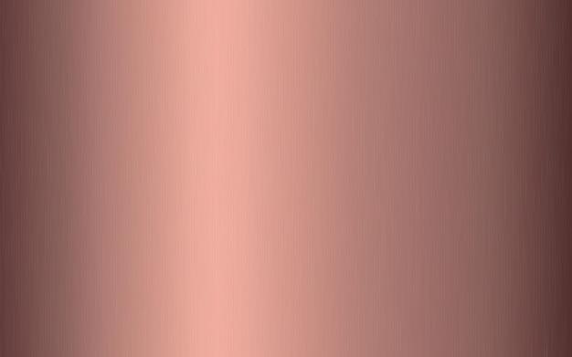 傷のあるローズゴールドのメタリックグラデーション。ローズゴールド箔の表面テクスチャ効果。 Premiumベクター
