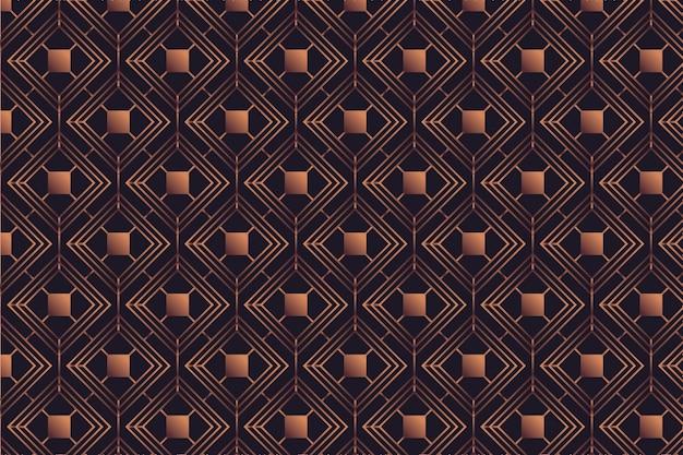 暗い背景にローズゴールドパターン 無料ベクター