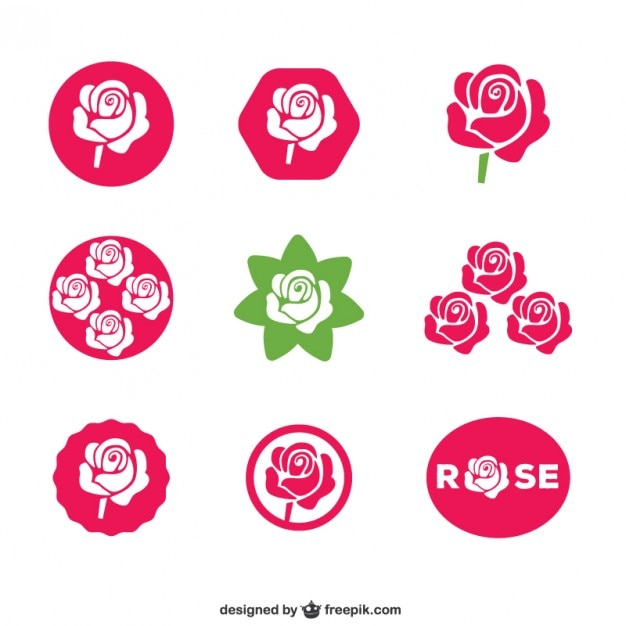 Rose icons Free Vector