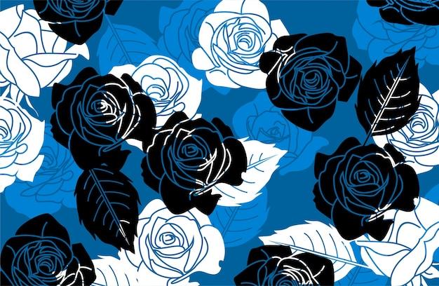 Rose Pattern Wallpaper Vector Premium Download