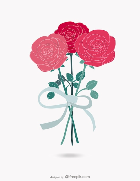 Wedding Flowers Vector Free Download : Roses bouquet vector free download