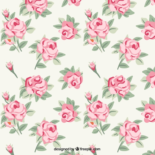 Roses pattern Vector | Free Download