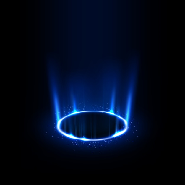 Rotating blue rays with sparkles Premium Vector