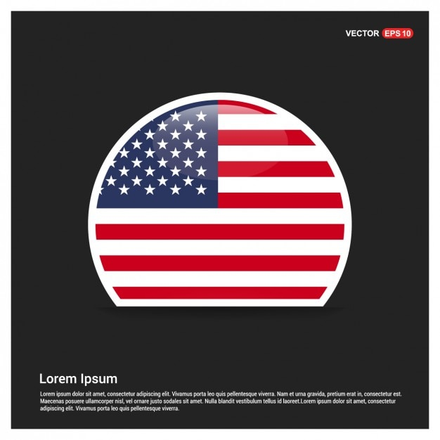 round american flag template vector free download
