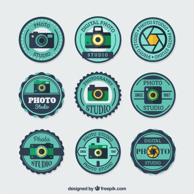 Round badges for photo studios