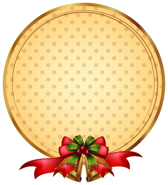 Round Border Template With Christmas Bells Premium Vector
