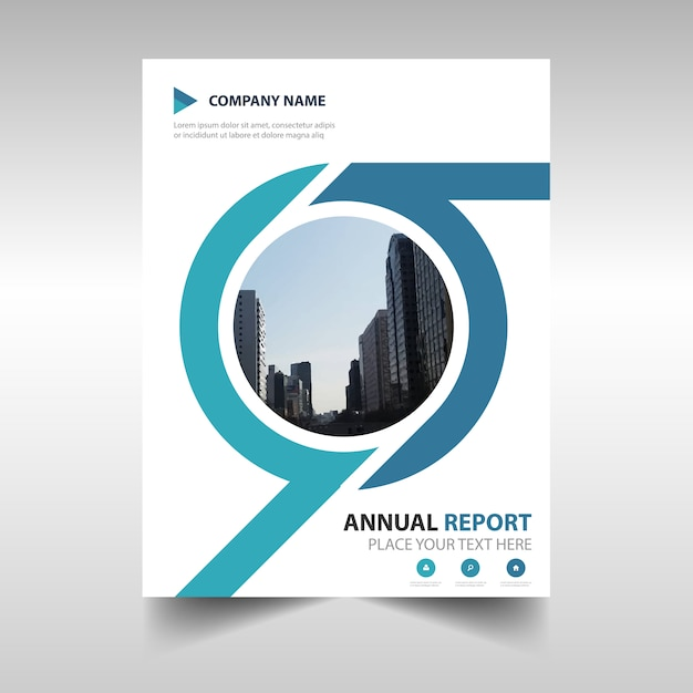 Round Creative Annual Report Cover Vector  Free Download