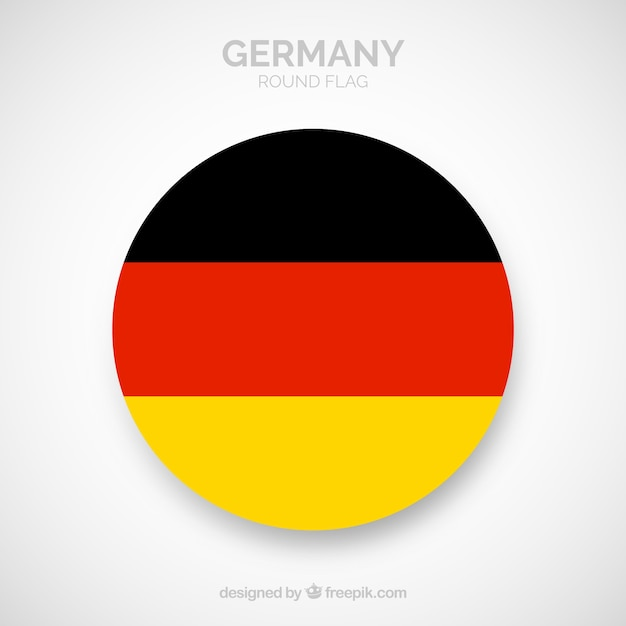 Round flag of germany Free Vector