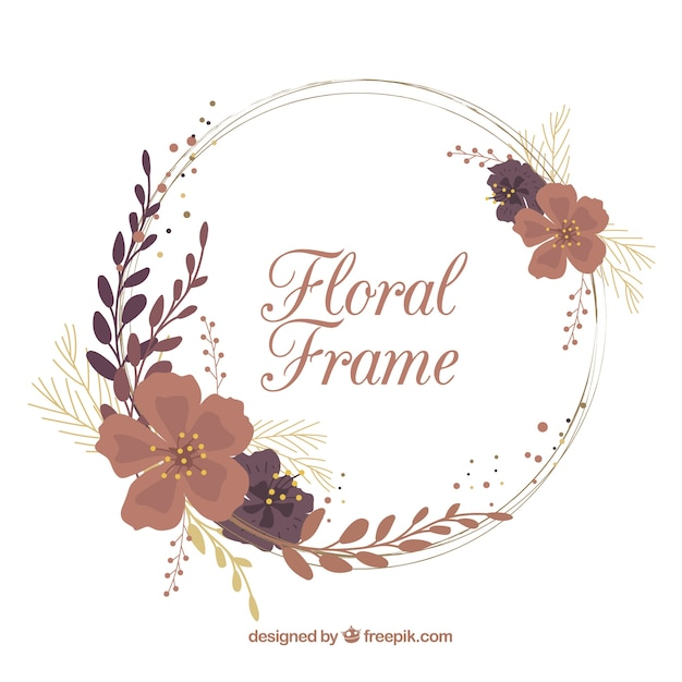 Free Vector | Round floral frame