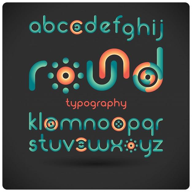 Carattere tipografico moderno rotondo Vettore gratuito