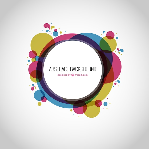 Round geometry abstract background Free Vector