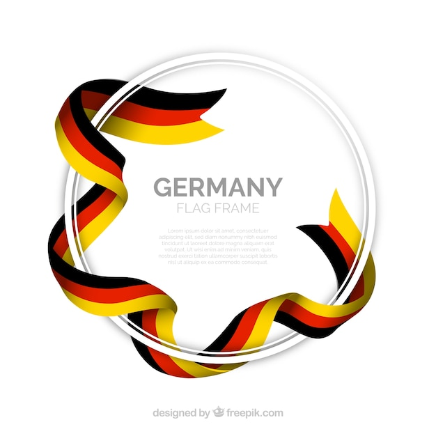 Round germany frame Free Vector