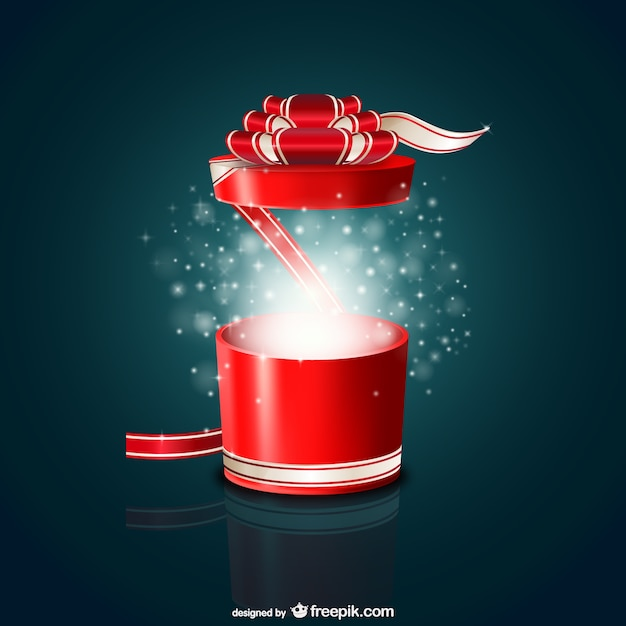 Round gift box vector free download round gift box free vector negle