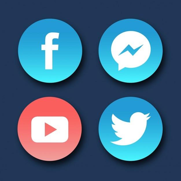 Logo quattro social media Vettore gratuito