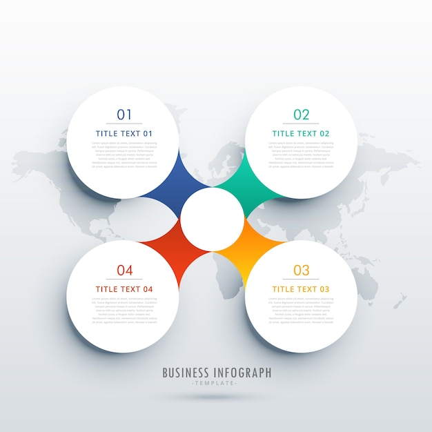 Round infographic design template Free Vector