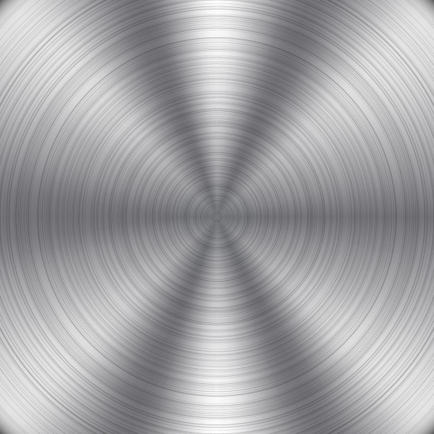 Round metal background Free Vector