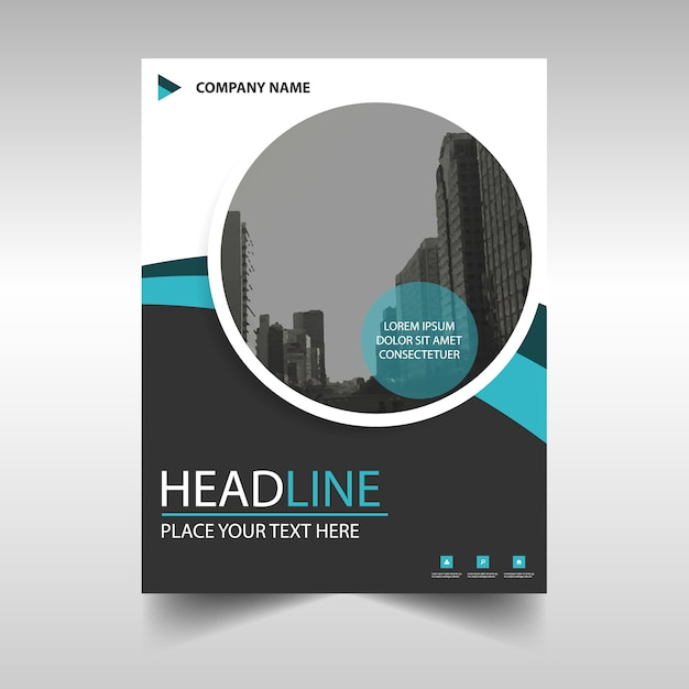 Round modern annual report template Vector – Annual Report Templates Free Download