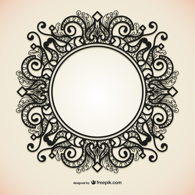 Lovely Round Ornamental Frame Vector Free Download Marcos Redondos Para Cuadros