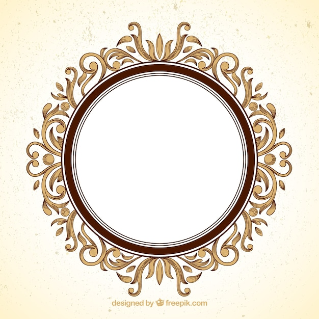 Round Ornamental Frame Vector Premium Download