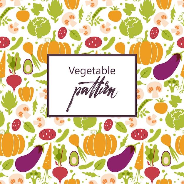 Round pattern of fresh juicy vegetables. healthy diet, vegetarian and vegan. Free Vector