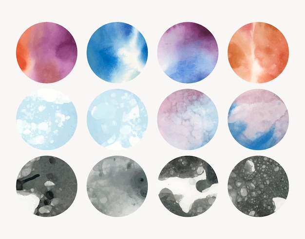 Round shaped watercolor background Free Vector