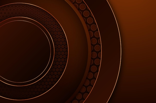 Round shapes luxurious background Free Vector
