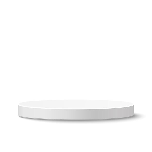 Круглый подиум на белом фоне. иллюстрация. Premium векторы