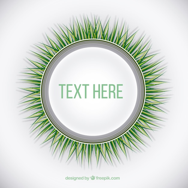 Round template with green grass Vector | Premium Download