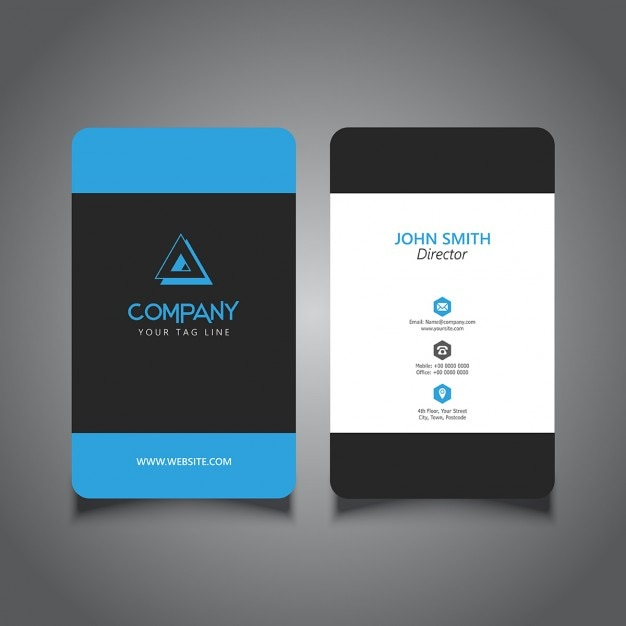 Rounded Corner Business Card With A Modern Design Vector Free Download
