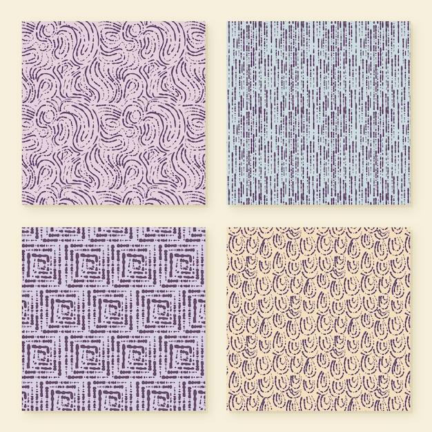 Collezione di pattern di linee arrotondate Vettore gratuito