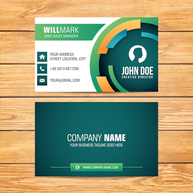 Rounded shape business card design vector free download rounded shape business card design free vector colourmoves