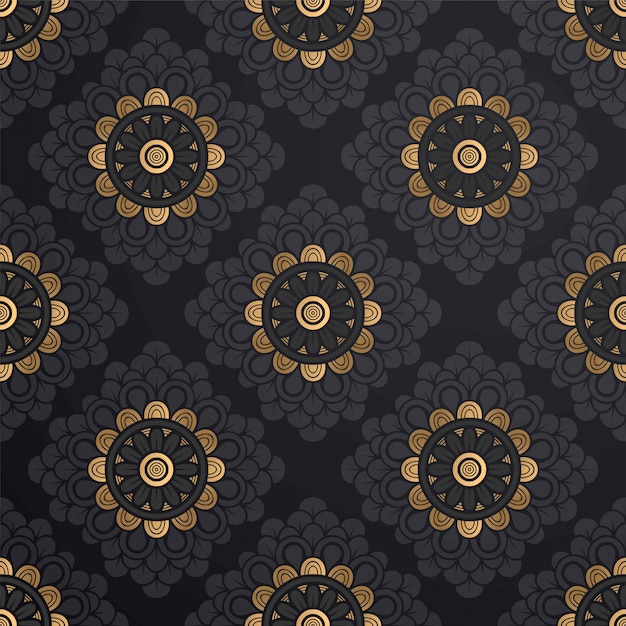 Rounds seamless pattern Free Vector