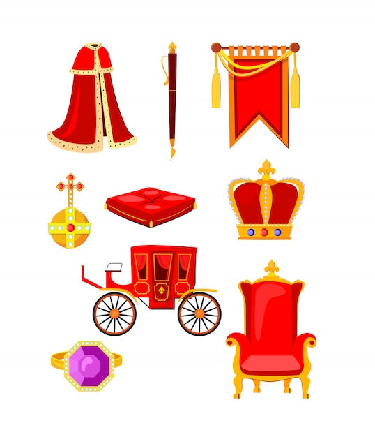 Royal accessories set Free Vector
