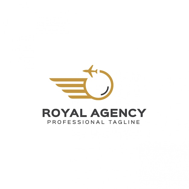 Royal agency logo template Premium Vector