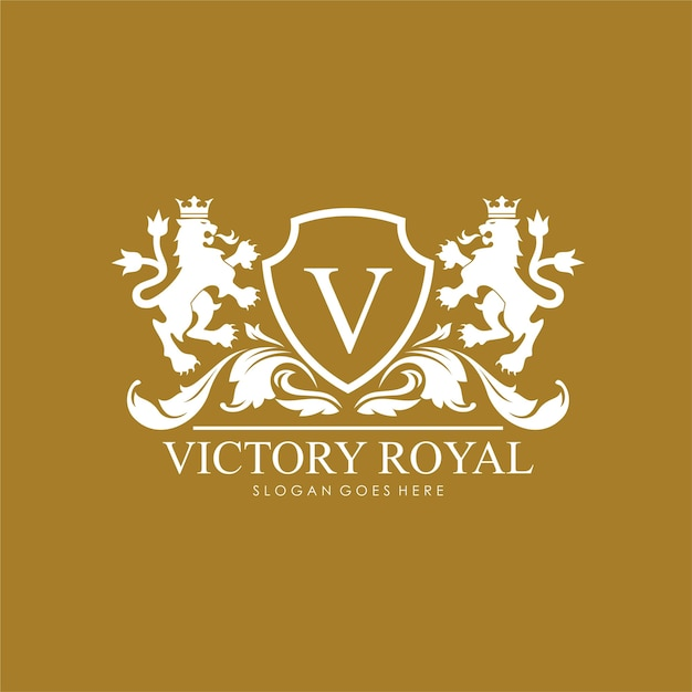 royal brand and luxury logo design template vector premium download. Black Bedroom Furniture Sets. Home Design Ideas