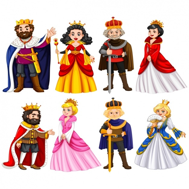 Royal characters collection Premium Vector