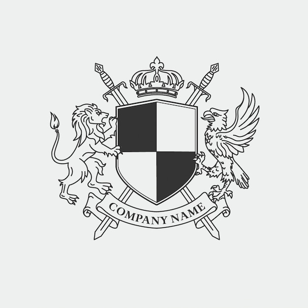 Royal Coat Of Arms For Company Logo Vector Premium Download