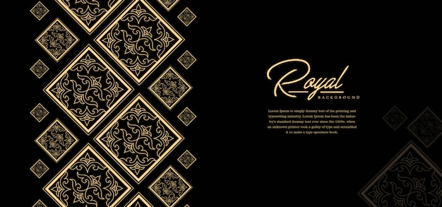 Royal golden background template Premium Vector