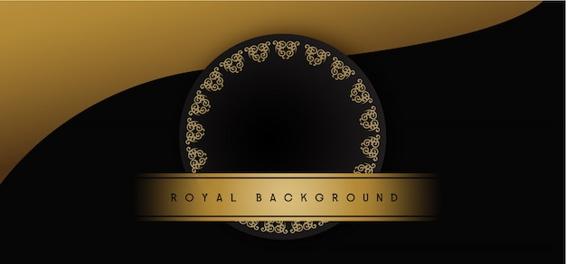 Royal golden background Premium Vector