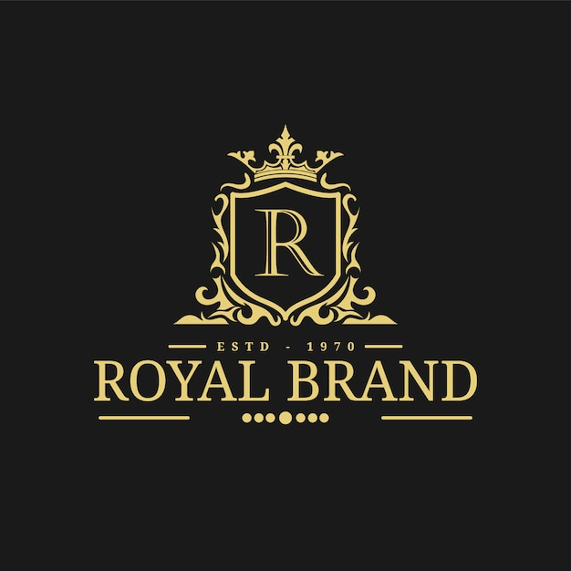 Royal logo design template vector illustration. | Premium ...